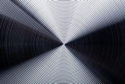 Radial stainless steel macro texture