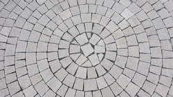 Radial tiles on the square