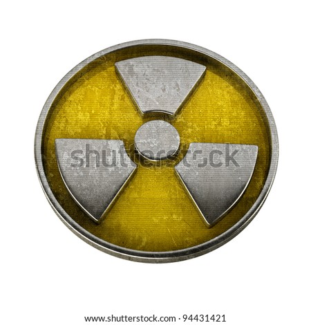 Radiation Alert sign isolated on white background High resolution 3D