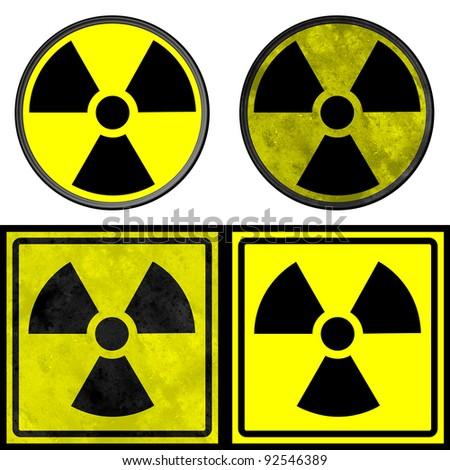 Radiation Alert signs