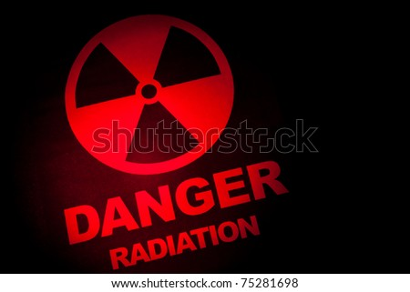Radiation hazard sign for background - stock photo