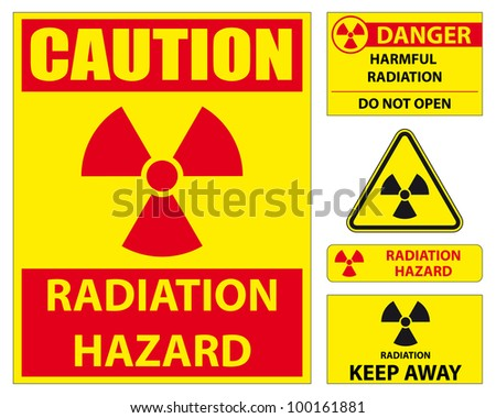 Radiation hazard signs. Vector available.