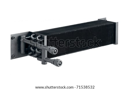 Radiator cooling air condition systems in the automobile, the image isolated on white