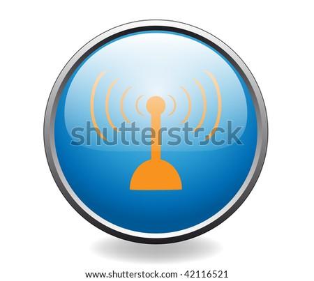 Radio antenna. Button