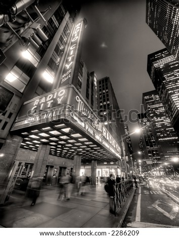 radio city hall manhattan new york