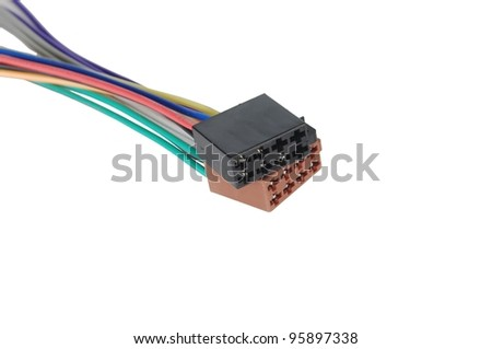 radio connectors on white background