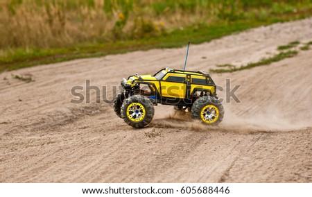 Radio-controlled car movement. Stock photo ©