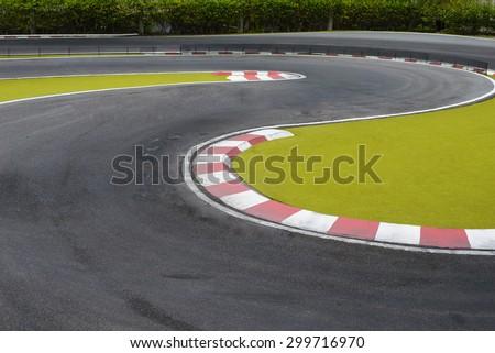 Radio controlled car racing track