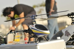 Radio Controlled Helicopter model caring