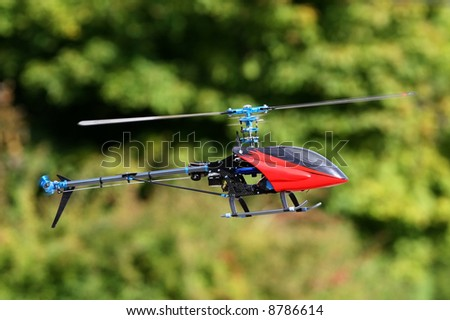 Radio controlled helicopter. RC