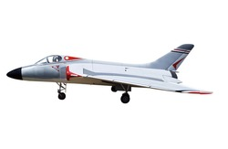 Radio Controlled Model of a Marine Jet isolated with clipping path.