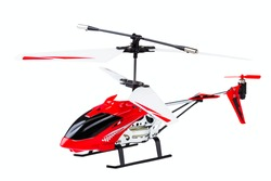 radio-controlled model of the helicopter isolated on a white background