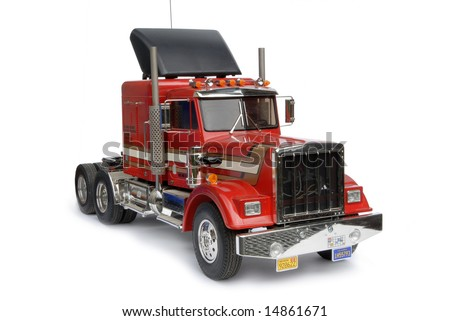 Radio controlled model truck or freightliner