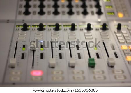 radio live mixer. radio live broadcast technical devices Stok fotoğraf ©