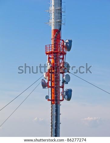 Radio mast closeup