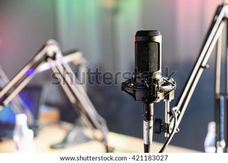 Radio microphone in the studio