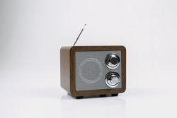 Radio receiver isolated on white background.
