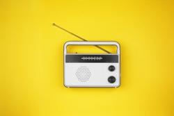Radio receiver on color background