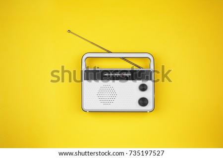 Radio receiver on color background #735197527