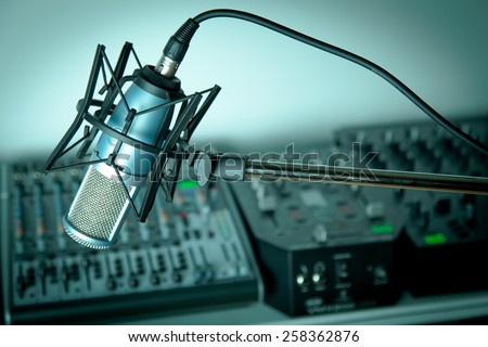 Radio, Recording Studio, Studio. #258362876