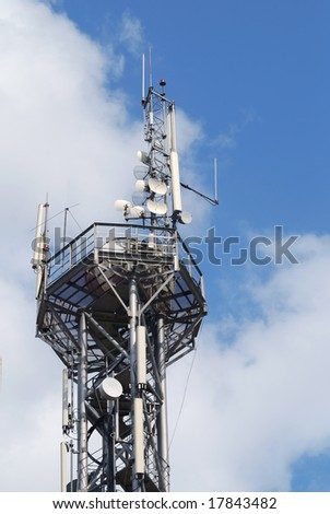 radio signal antenna. part of digital network