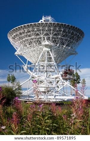 Radio-telescope the 'Quasar' observatory in Badary (Russia)