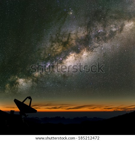 Radio telescope under the Milky Way The search for intelligent life
