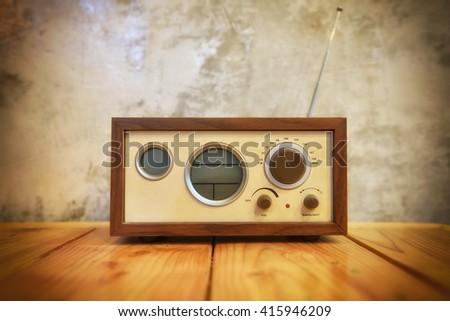 radio vintage,The concept nostalgia