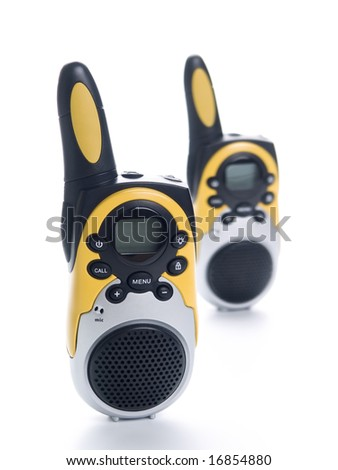 Radio walkie talkie pair