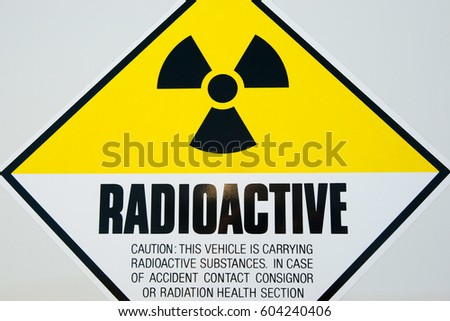Stock Photo Radioactive Sign
