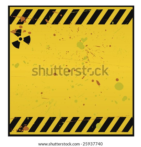 Radioactive warning - stock photo