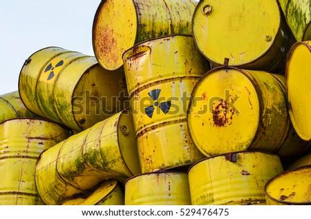 Radioactive waste barrels Сток-фото ©