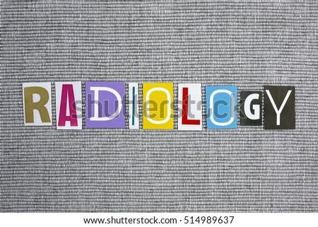 radiology word on grey background Zdjęcia stock ©