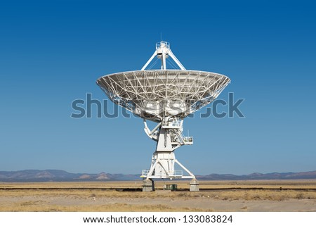 Radiotelescope array of VLA (Very Large Array) in New Mexico (USA)