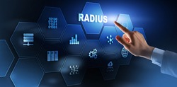 Radius. Remote Authentication in Dial In User Service. Telecommunications Networks Concept.