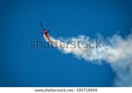 RADOM, POLAND - AUGUST 25: Aerobatic group formation \