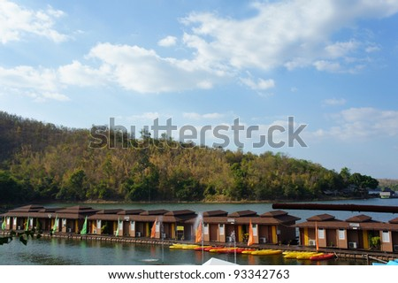 Raft River House with the beautiful blue sky background