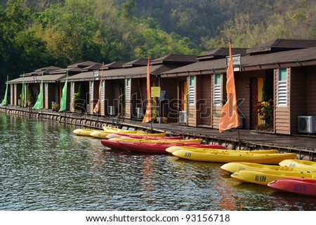 Raft River House with the colorful kayaks
