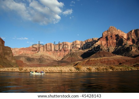 Rafter on the Grand Canyon
