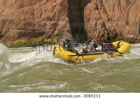 Rafters on Colorado River in Grand Canyon