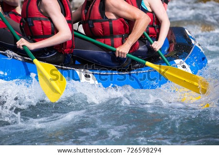 rafting extreme sports on mountain streams