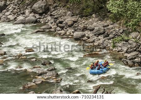 Rafting in Nepal.