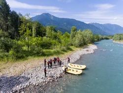 Rafting in Valtellina, Adda river