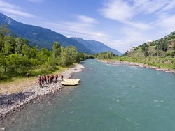 Rafting - Mountain river - Tourism in Valtellina