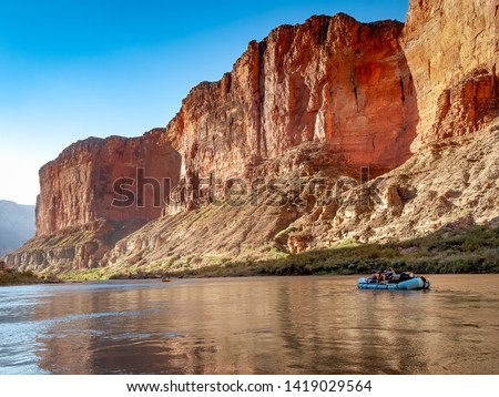 Rafting on the Colorado River in the Grand Canyon #1419029564