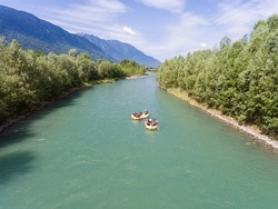 Rafting on the river