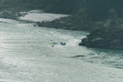 Rafting on the river Ganges