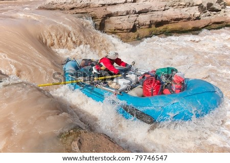 Rafting Pearce Ferry Rapid - Grand Canyon National Park
