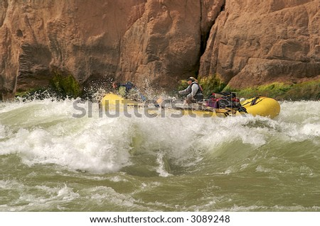 Rafting through Granite Rapids in Grand Canyon