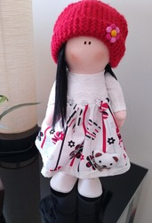 Rag doll with clothes and long hair